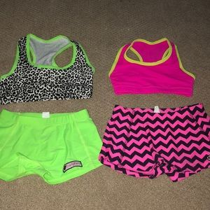 Crazy pants cheer outfits